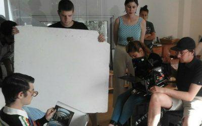 Sesión de rodaje de los vídeos publicitarios de SaludBox